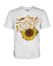 Kayaking - Sunflower V-Neck T-Shirt thumbnail