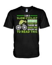 Cycle - I Am A Slow Cyclist V-Neck T-Shirt thumbnail