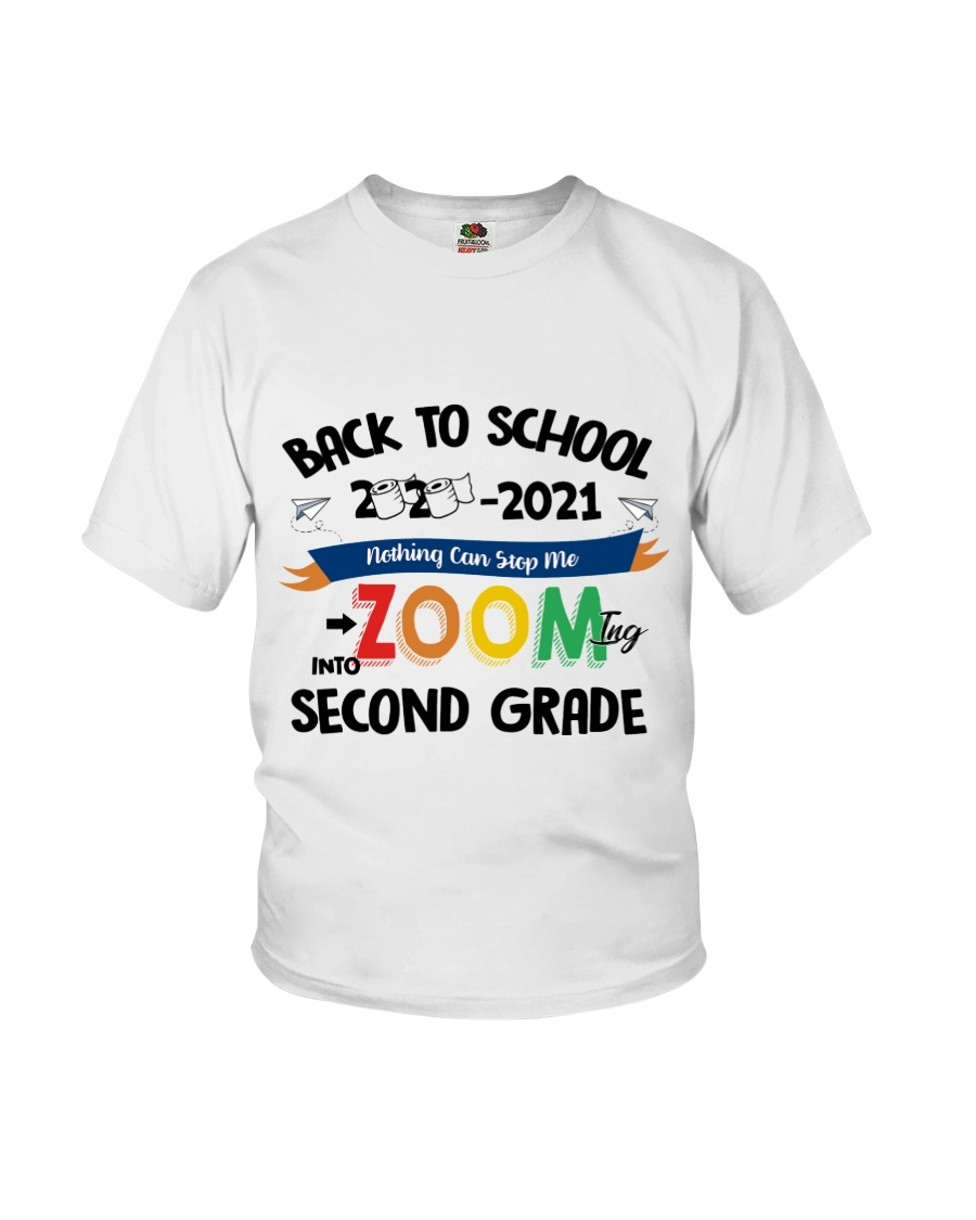 Back To School Zooming Into Second Grade Youth T-Shirt