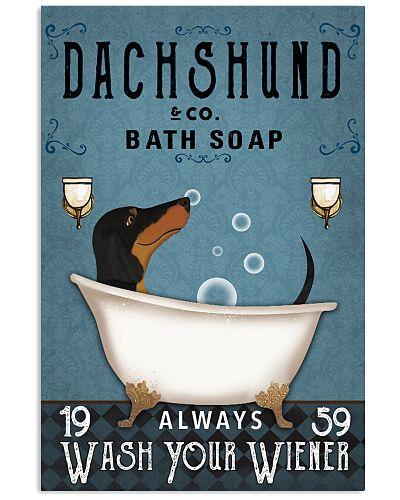 Dachshund Blue Always Wash Your Wiener