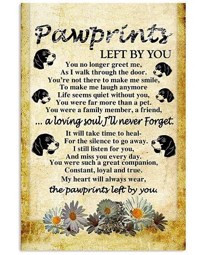 Dachshund - Pawprints - Poster