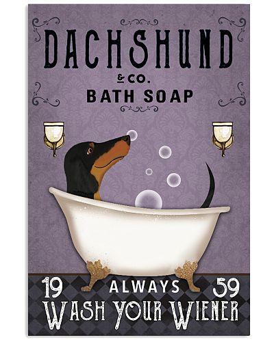 Dachshund Purple Always Wash Your Wiener