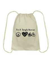 Cycle - I Am A Simple Woman Drawstring Bag thumbnail