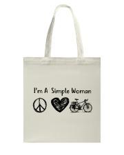 Cycle - I Am A Simple Woman Tote Bag thumbnail