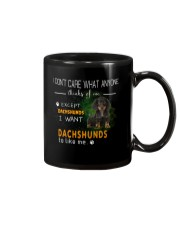 Dachshund - I Don't Care What Anyone Thinks Of Me Mug front