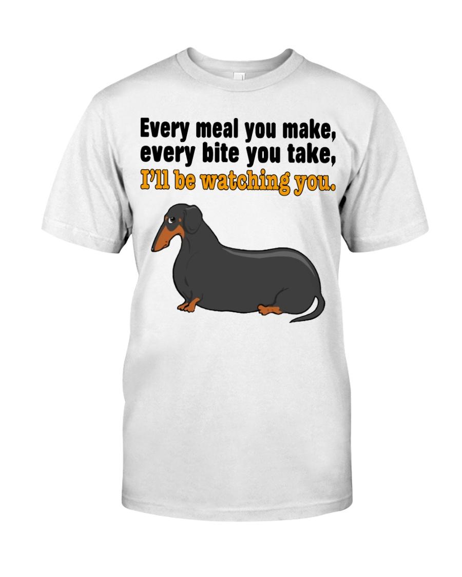 Dachshund - I'll Watching You Classic T-Shirt