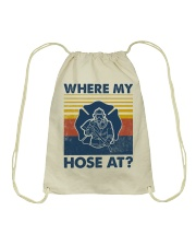 Firefighter Where My House Is Drawstring Bag thumbnail