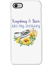 Kayaking - Kayaking And Beer Are My Therapy Phone Case thumbnail