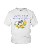 Kayaking - Kayaking And Beer Are My Therapy Youth T-Shirt thumbnail