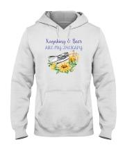 Kayaking - Kayaking And Beer Are My Therapy Hooded Sweatshirt thumbnail