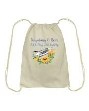 Kayaking - Kayaking And Beer Are My Therapy Drawstring Bag thumbnail