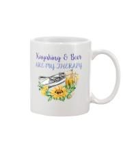 Kayaking - Kayaking And Beer Are My Therapy Mug thumbnail