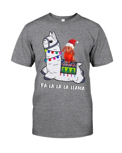 Dachshund - Merry Christmas - Fa La La La