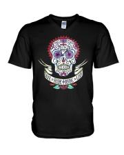 Cycle - Skull V-Neck T-Shirt thumbnail