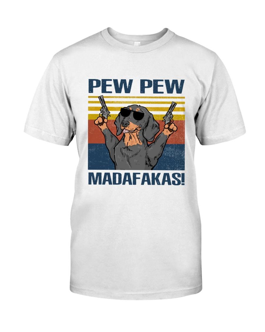 Black Dachshund Madafakas Classic T-Shirt
