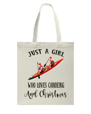 Canoeing - Just A Girl Tote Bag thumbnail