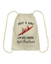 Canoeing - Just A Girl Drawstring Bag thumbnail