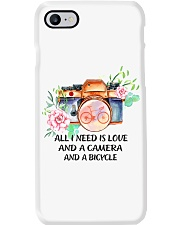 Cycle - All I Need Is Love And Camera And Bicycle Phone Case thumbnail