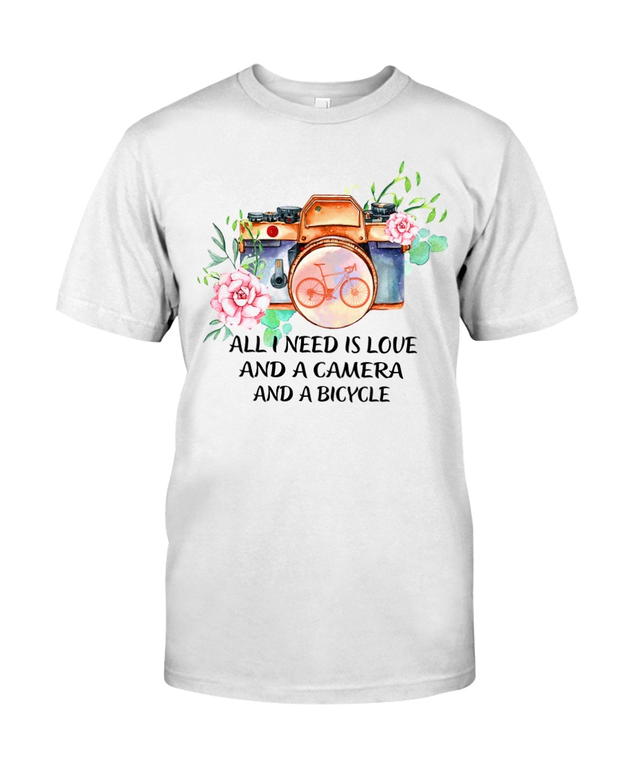 Cycle - All I Need Is Love And Camera And Bicycle Classic T-Shirt