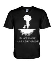 Dachshund - I'm Not Single V-Neck T-Shirt thumbnail