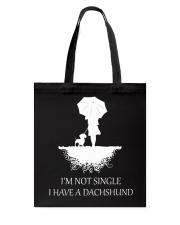 Dachshund - I'm Not Single Tote Bag thumbnail