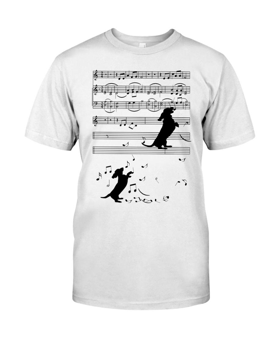 Dachshund - Music Classic T-Shirt