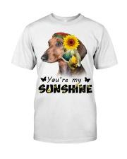 Dachshund - You're My Sunshine Classic T-Shirt front