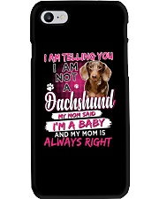 Dachshund - I'm A Baby Phone Case tile