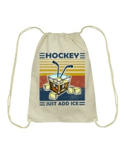 Hockey Whiskey Ice Hockey Drawstring Bag thumbnail