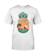 Dachshund - Pineapple Classic T-Shirt front