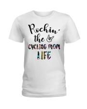 Cycle - Rockin' The Cycling Mom Life Ladies T-Shirt thumbnail
