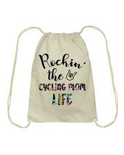 Cycle - Rockin' The Cycling Mom Life Drawstring Bag thumbnail