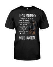 Dachshund - Dear Mommy - T-Shirt Classic T-Shirt front