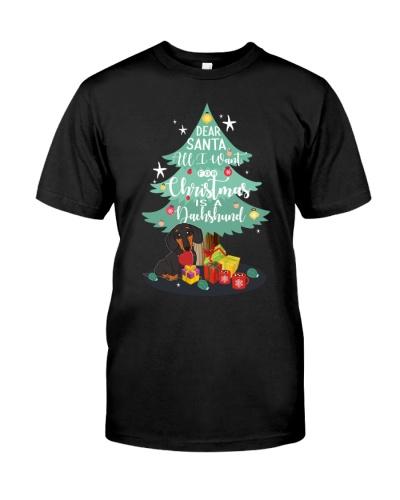 Dachshund - Merry Christmas - Dear Santa