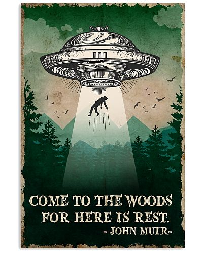 Camping Come To The Woods Poster