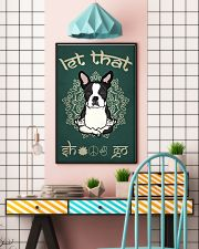 Black French Bulldog Let That Shit Go 16x24 Poster lifestyle-poster-6