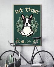 Black French Bulldog Let That Shit Go 16x24 Poster lifestyle-poster-7