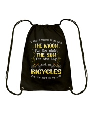 Cycle - I Need 3 Things In My Life Drawstring Bag thumbnail
