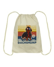 Funny Independence Day Dachshump Drawstring Bag thumbnail