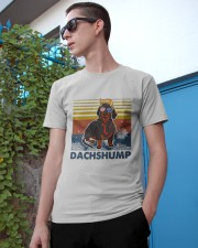 Funny Independence Day Dachshump Classic T-Shirt apparel-classic-tshirt-lifestyle-17