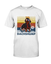 Funny Independence Day Dachshump Classic T-Shirt front