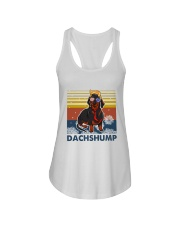 Funny Independence Day Dachshump Ladies Flowy Tank thumbnail