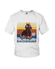 Funny Independence Day Dachshump Youth T-Shirt thumbnail