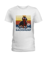 Funny Independence Day Dachshump Ladies T-Shirt thumbnail