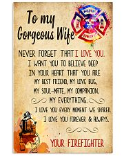 Firefighter - To My Gorheous Wife 11x17 Poster front