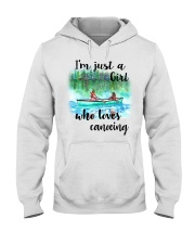 Canoeing - I'm Just A Girl Who Loves Canoeing Hooded Sweatshirt thumbnail