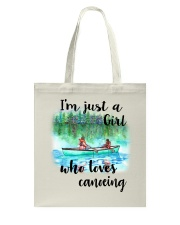 Canoeing - I'm Just A Girl Who Loves Canoeing Tote Bag thumbnail
