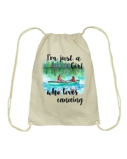 Canoeing - I'm Just A Girl Who Loves Canoeing Drawstring Bag thumbnail