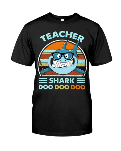 Back To School  Teacher Shark Doo Doo Doo Male