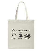 Cycle - I Am A Simple Woman Tote Bag thumbnail